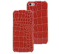 Glossy Crocodile Pattern PU Flip Case with Interior Microfiber for iPhone 5/5S (Optional Colors)