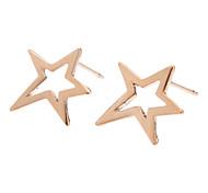 Rose Gold ocas cinco pontos da estrela Brincos