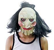 Máscara de palhaço com tampa da cabeça para festa à fantasia de Halloween