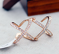Alloy Double X Open Ring(Random Color)
