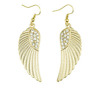 Oro Angle Wings Pendientes