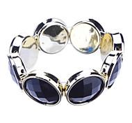z&pulsera x® grandes diamantes de imitación decoradas para niñas - negro + Goldena