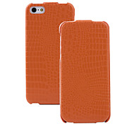 Alligator Pattern PU Flip Case with Microfiber Protection for iPhone 5/5S (Optional Colors)