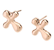 Earring Cross Stud Earrings Jewelry Women Daily Gold / Alloy Gold