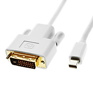 Thunderbolt Male to DVI 24+1 Male Cable White for MacBook Air/MacBook Pro/iMac/Mac mini(1.8M)