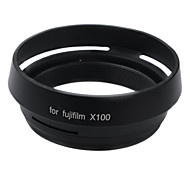 Filter Adapter Ring + Lens Hood for Fujifilm Fuji X100 Replace LH-X100 black