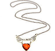 Red Love Angel Wings Necklace