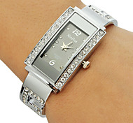 Women's Diamante Rectangle Dial Alloy Band Bracelet Watch (Assorted Colors) Cool Watches Unique Watches