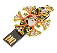 Metal Christmas Snow Flower Modelo USB de 4GB