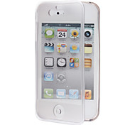 Clamshell Designed TPU Soft Full Body Case with Transparent Front Cover for iPhone 4/4S (Assorted Colors)