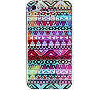 Colorful figures géométriques Motif Hard Case de protection pour iPhone 4/4S