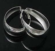 silver earring fashion jewelry Hoop Earrings18