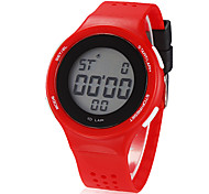 Children's Color Matching Round Dial Rubber Band LCD Digital Wrist Watch (Assorted Colors)