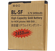 BL-5F-GD 2450mah Cell Phone Battery for Nokia6210Navigator,6260slide,6290,E65,Nseries n72,N93i,N95,N96