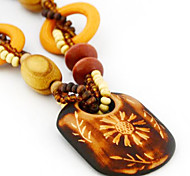 Z&X®  Exotic retro wooden necklace