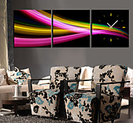 """12""""-24""""Country Style Colorful Wall Clock In Canvas 3pcs"""