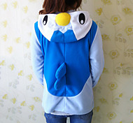 Kigurumi Pajamas Penguin Leotard/Onesie Halloween Animal Sleepwear White / Blue Patchwork Polar Fleece Kigurumi Unisex Halloween