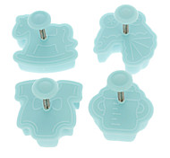 Cookie Cutter Plunger Cutter Pie Crust Mold Biscuit Baby Set (4pcs/set)