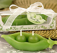 Two Peas in a Pod Candle in Ivy Print Gift Box