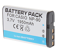 3.7V 1950mAh de vídeo digital recargable de litio batería para CASIO CNP90 (Blanco)