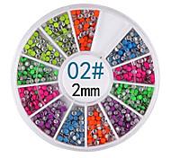 YeManNvYou®6-color 2MM Round Rivet Nail Art Decorations