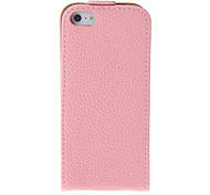 Retro Style Pink Protective Flip Open PU Full Body Case for iPhone 5/5S