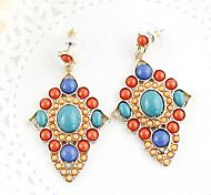 Qingdao-Support mixed wholesale new alloy women's gem hollow-out earrings