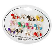 Microphone Earphone Stud Earrings(Random Color)
