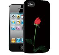 rosa modello 3d caso effetto per iphone4/4s