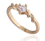 (1 Stück) Classic Damen Transparent Zirkon Ringe (5 #, 6 #, 7 #, 8 ½ #)