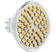 5W GU5.3(MR16) Focos LED 60 SMD 2835 360 lm Blanco Cálido AC 12 V