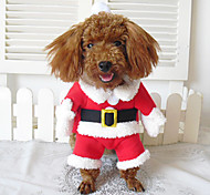 Dog Costume / Coat / Bandanas & Hats / Outfits Red Winter Cosplay / Christmas / Halloween