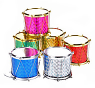 "6-Pack 5cm 2"" Sequin Drums Christmas Ornaments Pack"