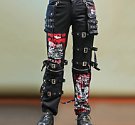 Skull Black Pattern Cotton Pants Punk Lolita