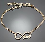 Faith Word Letters Infinite Infinity Chain Bracelet