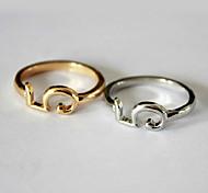 (1pc) Mode féminine anneau d'or en alliage (d'or)