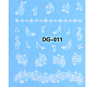 5PCS Cartoon Water Transfer Printing Noctilucent Nail Art Sticker No.1(Assorted Colors)