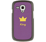 King's Crown Drawing Pattern Protective Hard Back Cover Case for Samsung Galaxy S3 Mini I8190