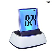Cambio 7-Color LED Digital Alarm LCD Termometro Orologio