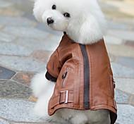 модные Кожа PU молнии теплое пальто для домашних животных собак (ассорти цветов, размеров)