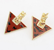 Retro Inverted Triangle Stud Earring