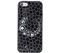 Poker Texture TPU Soft GEL Back Cover Skin Case for iPhone 5/5S