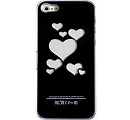 New Sense Loving Heart Flash Light LED Color Changing Hard Case for iPhone 5