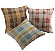 Juego de 3 tradicional escocesa poliéster almohada cubierta decorativa