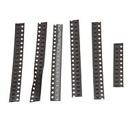 0805 SMD LED Emettitori strisce Set - Nero (5 x 20 + 1 x 10 pz)