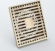 Bagno accessori in ottone antico finitura in ottone massiccio pavimento di scarico-LK-1053