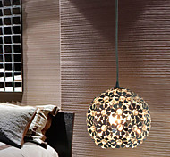 SL® Modern Minimalist 1 Light Pendant with Crystal Shade in Globular