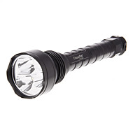 UniqueFire UF-V2 5-Mode 3xCREE XM-L U2 torcia LED (3800LM, 2x18650, Nero)