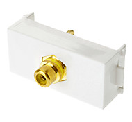 Keystone Jack Modular RCA White Center Flush Type White