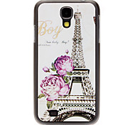 Fashion Designed Purple Flower Tower Pattern Protevtive Hard Back Case for Samsung Galaxy S4 I9500